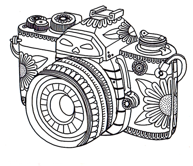 Free-adult-coloring-pages-camera